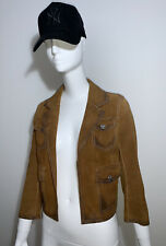 DSQUARED2 Women's Suede Gorgeous New Blazer Jacket Size 40 UK 6-8 NEW RRP $1500