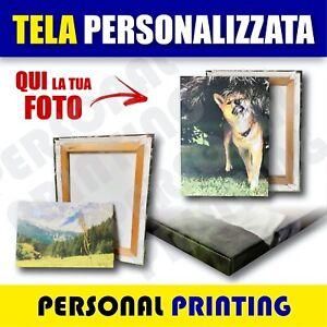FOTO QUADRO STAMPA SU TELA + TELAIO in LEGNO Arredo REGALO Personalizzato CANVAS