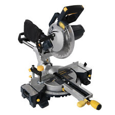 GMC 378634 1800W Double Bar Sliding Mitre Saw Workshop Power Tool 210mm