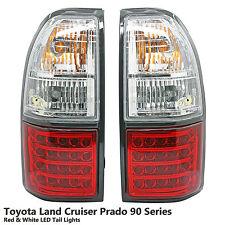 Rear Red White LED Tail Light Lamp Fit Toyota Land Cruiser Prado FJ90 FJ95 96-02