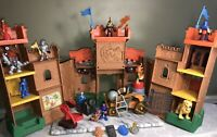 Fisher-Price Imaginext Eagle Talon Castle 30 Piece Lot Catapult Knights + More
