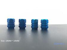 4X tire rim dry air valve cap bicycle tire bogie Blue Aluminum