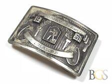 Vintage Men's SOLID Sterling Silver Mercury - News Champs 1951 Belt Buckle