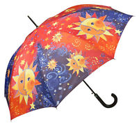 Regenschirm Automatik rot Damen Kunst Motiv Sonne Mond Rosina Wachtmeister Sole