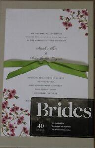 Brides Wedding Invitation Kit 40 Cherry Blossom Design NEW