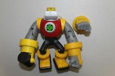 "Mega Man NT Warrior - ""Gutsman"" Action Figure with Both Hands - 2004 Mattel"