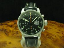 FORTIS Flieger Chronograph Steel Day Date Automatic Men's Watch Ref 597.10.141
