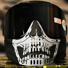 NEW Empire E-Flex Thermal (Clear & Smoke Lenses) Paintball Mask Goggle - Skull