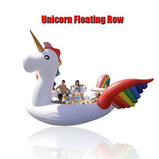 Inflatable Unicorn Pool Giant Ride-on Floating Raft Island Boats for Adults Kids