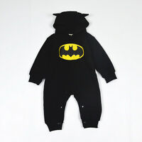 Baby Kids Boy Girl Batman Pikachu Bodysuit Romper Jumpsuit Clothes Set Outfits