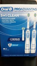 Oral-B PRO ADVANTAGE Deep Clean Battery Toothbrush System, 2 Handles, 3 Brushes