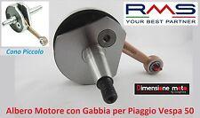 0230  ALBERO MOTORE CONO PICCOLO 19mm  + GABBIA RMS per Piaggio Vespa 50 Special