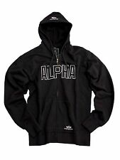 Alpha Industries Track Hd Jkt 183313 03 Zip Hood black Größe XL