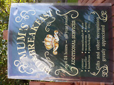 MUM,S BED  BREAKFAST TIN SIGN FOR SHED ETC NEW & SEALED.