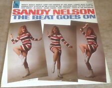 SANDY NELSON the beat goes on 1967 UK BLUE LIBERTY STEREO VINYL BEAT POP LP