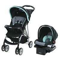 Graco LiteRider TRAVEL SYSTEM, Folding Jogger STROLLER & Baby CAR SEAT, Sully