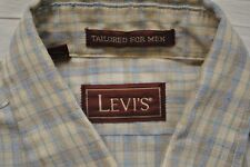 Vintage Levi's Tailored Plaid Button Up Shirt Size Small 100% Cotton Made In USA