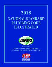 2018 National Standard Plumbing Code Book Illustrated - New