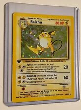 Pokemon RAICHU 1st Edition GERMAN 14/102 Base HOLO Rare MINT CONDITION