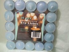 50 pcs Round Candle Unscented colored Smokeless Candle Wax Tea Lights 50 pcs