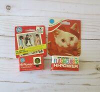 Vintage Mixed Lot GE SYLVANIA HI-POWER FLASH CUBES (2) Boxes of 2