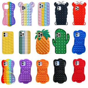 Funny Bubble Sensory Funny Silicone Squeeze Sensory Case for iPhone 11 7 Pro Max