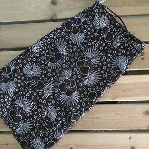 TYR Womens Stretch Sun Protection Athletic Durable Swim Skirt Brown Floral 14