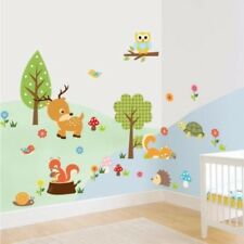 Forest Animals Owl Squirrel Children's Room Bedroom Background Wall Sticker 1731
