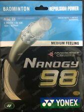 Genuine Yonex NANOGY 98 NBG98 Badminton String Grey/Gold (1 Pack) US-SameDayShip