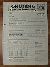 Radio yacht-Boy 310 460 Grundig Service Manual service instrucciones
