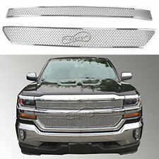 Chrome For 2016-2017 Chevy Silverado 1500 Tape-On  Grille Overlay Grill Covers