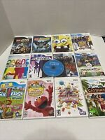 Nintendo Wii Game Lot-13 Games- WII SPORTS, Spongebob, Lego Games And More!