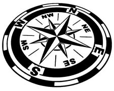 Kompass 28x18 cm Caravan Windrose Auto Aufkleber Wand Tattoo Kompassrose 39/2/5