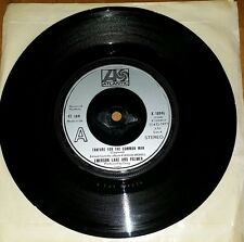 """Emerson Lake And Palmer,Fanfare For The Common Man,Pre Owned 7"""" Vinyl"""