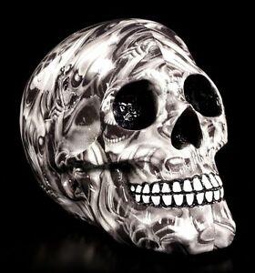 Totenkopf Figur - Gefangene Seelen - schwarz weiß Gothic Deko Schädel