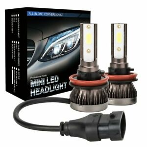 H11 H8 H9 LED Headlight White Light Kit Set High Low Beam Bulbs 6000K 420000LM