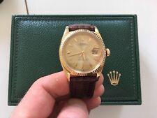Rolex Vintage Datejust 6605 Day Date President Herrenuhr 18k Gold Luxus RARE 57