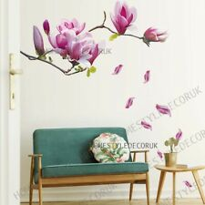 Blossom Magnolia Wall Decal Stickers Home Mural Art Wallpaper Flower Tree Decor
