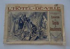 CATALOGUE GRAND BAZAR DE L'HOTEL DE VILLE PARIS TAPIS Orientalisme RAYBAUD 1910