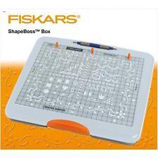 Fiskars SHAPEBOSS gaufrage découpe Plateau Stencil Set Shape Boss