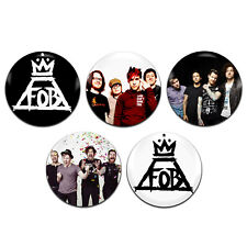5x Fall Out Boy Band Rock Pop Emo 25mm / 1 Inch D Pin Button Badges