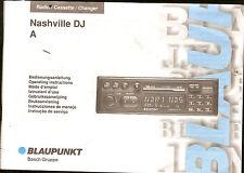 Bedienungsanleitung Handbuch Blaupunkt Nashville DJ Auto Radio Bj 1995