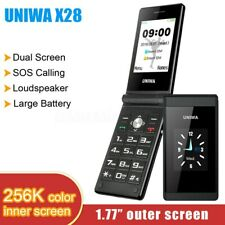 UNIWA X28 Unlocked Flip Mobile Phone Dual Sim Senior Big Push-Button Old Phone