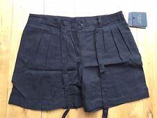 Robert Rodriguez Shorts Pleats Belt Tie Waist Pockets S Small New BNWT