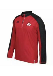 Adidas 2016 World Cup of Hockey Canada 1/4 Zip Shirt BF5511 Mens Size XL