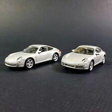 (2) Porsche 997 911 Carrera S Silver Norev 1:64 Die Casts