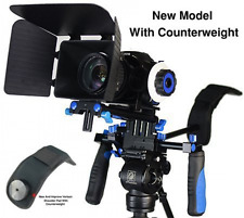 Eimo DSLR Rig Shoulder Mount Follow Focus w/ Matte Box for All Cameras and Video