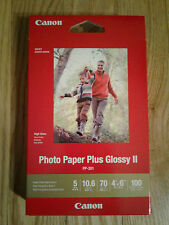 "Photo Paper Plus Glossy II PP-301 Canon 4""x6"" 100 sheets"