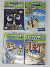 Lot of 4 LeapFrog Leapster 1 & 2 Learning System Games - Disney UP, I Spy, WallE
