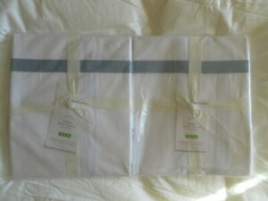 NEW AUTH POTTERY BARN MORGAN  SHOWER CURTAIN 72X72IN 183X183 CM SET OF 2
